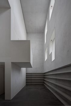 Two houses originally designed by Walter Gropius for professors at the Bauhaus art school in Dessau, Germany, have been rebuilt as a minimalist arrangement of geometric shapes