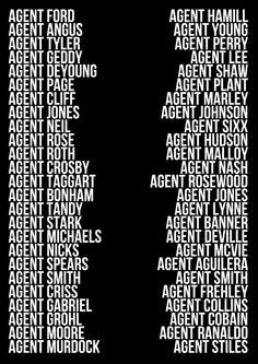 Sam and Dean's Agent Aliases