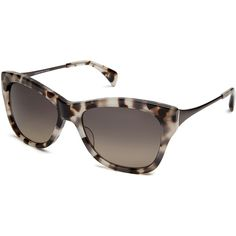 Salt. Milla Polarized Butterfly Sunglasses ($460) ❤ liked on Polyvore featuring accessories, eyewear, sunglasses, accessories sunglasses, brown, lens glasses, gradient lens sunglasses, brown glasses, polarized lens sunglasses and salt sunglasses