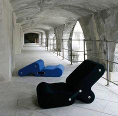 Chair original design / leather / by Joe Colombo MULTICHAIR by Joe Colombo B-LINE