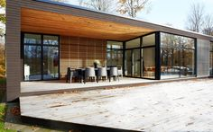 deck with roof Danish House, Small Modern Home, Concrete Houses, Beautiful Buildings, Little Houses, Architecture Details, Exterior Design, Future House, New Homes
