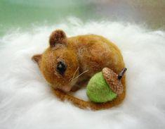 Needle Felted Mouse. Needle Felt Mouse. Wool Mouse. by ElisaShine