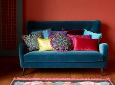 Pola sofa and cushions, Bohemian style by Pfister