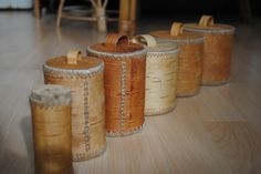 traditionelles wikinger Handwerk - Dosen aus Birkenrinde Birch Bark, Bushcraft, Basket Weaving, Vikings, Traditional, Craft Items, Product Design, Outdoor Living
