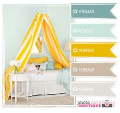 Color Hunting: Interior Decorating Palettes, Pretty Colors, and Fabulous Ideas Colour Pallette, Colour Schemes, Color Combos, Living Room Colors, Bedroom Colors, Blue Yellow Grey, Bright Yellow, Color Swatches, My New Room