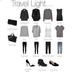 Travel Light... Almost Anywhere. by keelyhenesey on Polyvore
