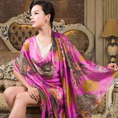 Female Long Silk Scarf Shawl Autumn Winter Women Mulberry Silk Blue Purple Scarves 2014 Winter All match Plus Size Scarf Wraps-inScarves from Women's Clothing & Accessories on Aliexpress.com | Alibaba Group