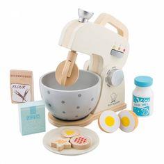 New Classic Toys- Ensemble-Robot Mixer, Rouge Baking Mixer, Baking Set, Toddler Toys, Baby Toys, Kids Toys, Toy Kitchen, Kitchen Sets, Making Wooden Toys, Smoothie Makers