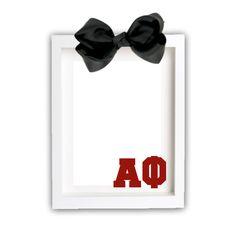 Alpha Phi Picture Frame . Block Greek Letters