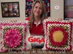 Almofada, Croche, Cristina Luriko, Ateliê - YouTube
