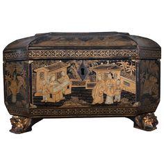 French 19th Century Chinoiserie Tea Caddy // - Maria Elena Garcia - ► www.pinterest.com/megardel/ ◀︎