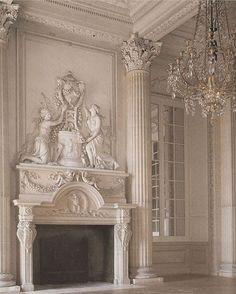 Hotel de Rohan Soubise, Paris by century architect Germain Boffrand fireplace