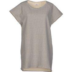A Me Mi Short Dress ($56) ❤ liked on Polyvore featuring dresses, grey, gray dress, grey mini dress, gray mini dress, short gray dresses and short sleeve mini dress