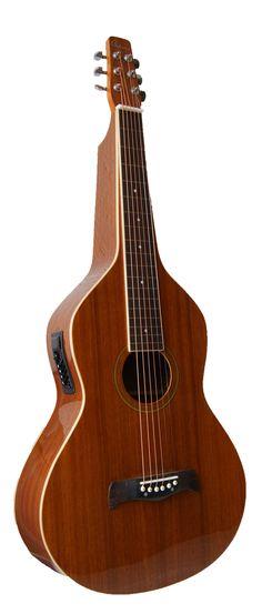 Deep Body Weissenborn Style Gitarre mit 4-Band EQ