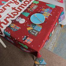 Dos desenhos animados Toalha de Mesa Toalha de Mesa Toalha de Mesa de Linho de Algodão Feliz Natal Personalizar Ano Novo(China)