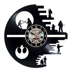 Vinyl Record Wall Clock Gift Star Wars Design