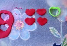 Botões com forma de coração
