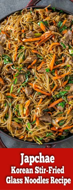The most amazing Korean Glass Noodles. An Authentic Japchae Recipe! SO delicious way better than a Take Out! The most amazing Korean Glass Noodles. An Authentic Japchae Recipe! SO delicious way better than a Take Out! Healthy Korean Recipes, Asian Noodle Recipes, Mexican Food Recipes, Healthy Food, Healthy Noodle Recipes, Vegan Korean Food, Authentic Korean Food, Best Korean Food, Rice Noodle Recipes