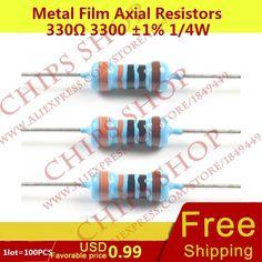100K 100 K 100 each 100,000 ohm 1//4 Watt Resistor universal