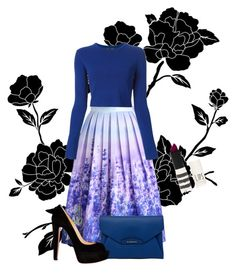 """""""// mysterious blue //"""" by souhaiter on Polyvore featuring Chicwish, Proenza Schouler, Givenchy, Christian Louboutin and Topshop"""