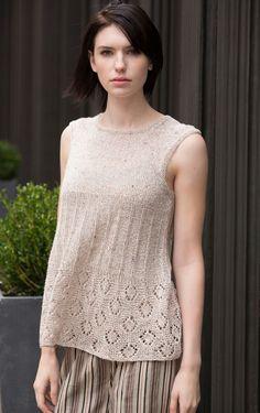 Lafayette Tunic in Audra Knitting Pattern - Patterns - Knitting | InterweaveStore.com