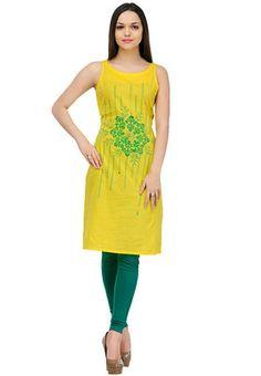 Shakumbhari Yellow Printed Tunic - Buy Women Tunics Online | SH268WA03ZVSINDFAS
