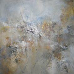 "Leeanne LaForge Mixed Media Abstract Art  32"" x 32"" Autumn Mist"""