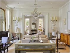 Clean and Elegant living room - Gatsby inspired