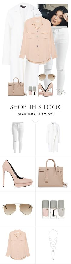 """""""Untitled #1542"""" by i-am-leia ❤ liked on Polyvore featuring VILA, Rochas, Yves Saint Laurent, Lancôme, Equipment, Miss Selfridge and Topshop"""