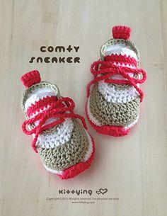 Pattern Crochet bebê Comfy do bebê Sapatilhas Crochet by meinuxing