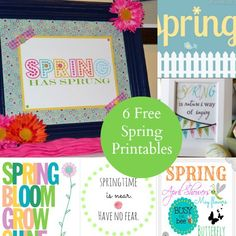 6 Free Printables for Spring
