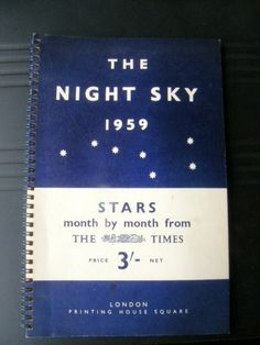 Astronomy book, The Night Sky month by month 1959