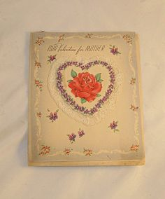 Valentines Card for Mother Never Used  with by AlchemistPantry, $3.00