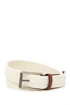 Woven Elastic Leather Belt