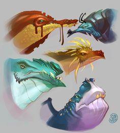dragons by Brett2DBean.deviantart.com on @deviantART