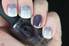 Gradient stamping skittlette. ILNP - Homecoming / KBShimmer - PT Young Thing / Gina Tricot - White / Essence - Stamp Me! White / Born Pretty Store - BP-L004.