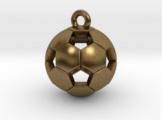 Check out Soccer Ball Pendant by Marcos Ramos Design on Shapeways and discover more 3D printed products in Pendants.