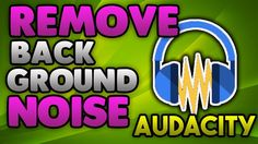 Audacity Noise Removal Tutorial - Remove Background Noise Audacity https://youtu.be/KKFl3wGvTL8