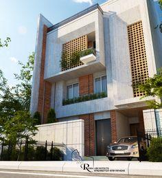Villa Design, Facade Design, Exterior Design, Modern Residential Architecture, Plans Architecture, Duplex House Design, House Front Design, Building Elevation, House Elevation
