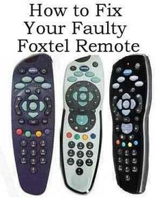 How to fix your faulty Foxtel / Austar Remote http://www.ebay.co.uk/sch/m.html?_odkw=sky&_osacat=0&_from=R40&_ssn=robs_rare_recordings&_trksid=p2046732.m570.l1313.TR0.TRC0.H0.Xfoxtel&_nkw=foxtel&_sacat=0