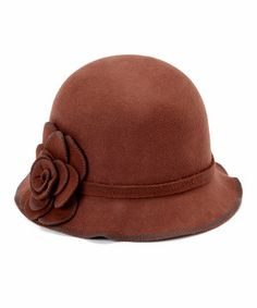 Another great find on #zulily! Jeanne Simmons Accessories Chocolate Rosette Wool Cloche by Jeanne Simmons Accessories #zulilyfinds
