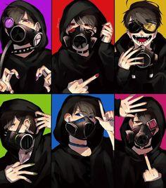 Osomatsu-san- Osomatsu, Karamatsu, Choromatsu, Ichimatsu, Jyushimatsu, and Todomatsu #Anime「♡」gasmask