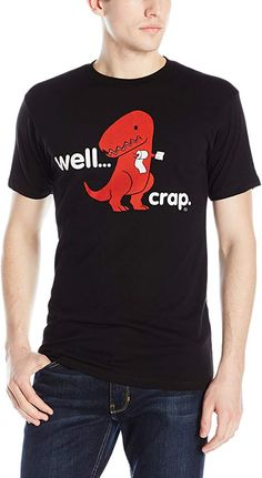 Amazon.com: Goodie Two Sleeves Sad T-Rex Dinosaur Men's T-Shirt: Clothing