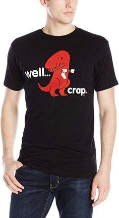 Amazon.com: Goodie Two Sleeves Sad T-Rex Dinosaur Men's T-Shirt: Clothing