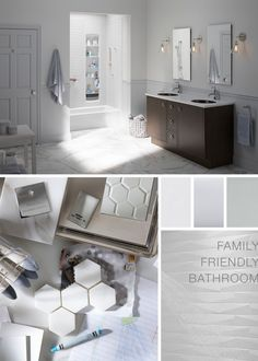 Family Friendly BathroomFeaturing These Products: