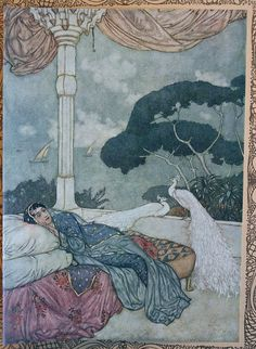 "Art Nouveau picture - These lovely pictures are in the public domain: EDMUND DULAC ILLUSTRATES ""THE RUBAIYAT OF OMAR KHAYYAM""  1909"