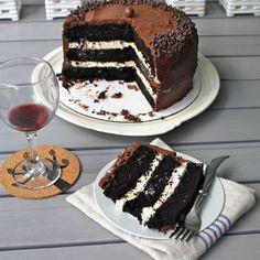 salted caremel choc cake