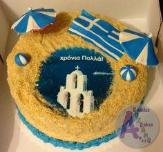 Greece themed cake