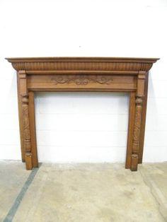 Columbus Architectural Salvage - Antique Oak Fireplace Mantel