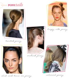 9 ponytail ideas!!! Sunnie Brook - Beauty Blog - Hair - Ponytail Inspiration